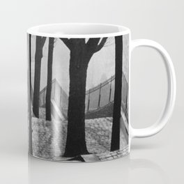 Sacre Coeur, Montmartre, Paris, France Stairs black and white photograph / black and white photography Coffee Mug