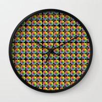 matrix Wall Clocks featuring Spectral Matrix by Phil Perkins