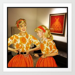 Daughter and Her Narcissistic Mother Art Print