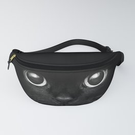 Black Cat Face Fanny Pack