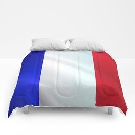 French Grunge Flag Gloss Comforters