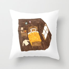 Bear on an Autumn Morning Throw Pillow