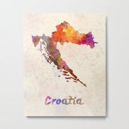Croatia in watercolor Metal Print