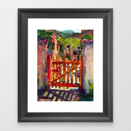 Red Gate Framed Art Print