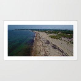 Hidden Beaches of the Ocean State, Rhode Island Art Print
