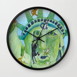 Statue of Liberty Canine Style Wall Clock