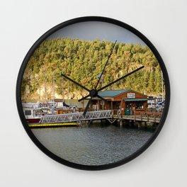 DEER HARBOR HIGH TIDE SUNRISE Wall Clock