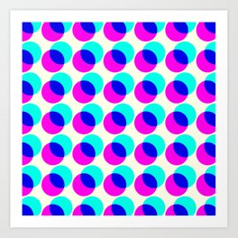 dots pop pattern Art Print