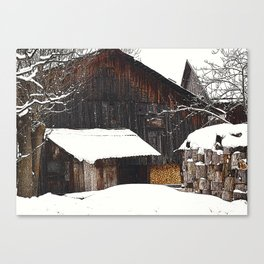 early morning in winter Canvas Print