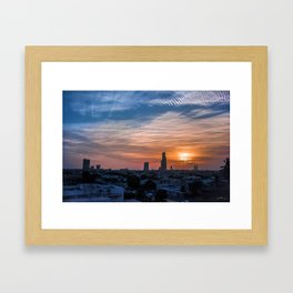 A hopeful sunset Framed Art Print