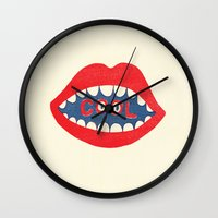 dentist Wall Clocks featuring COOL by Nick Nelson