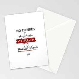 No esperes el Momento Stationery Cards