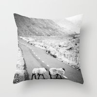 irish Throw Pillows featuring Irish Sheeps by GF Fine Art Photography