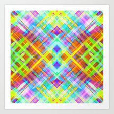 Colorful digital art splashing G71 Art Print