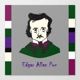 Edgar Allan Poe - hand-drawn portrait Canvas Print