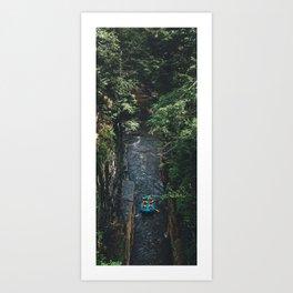 Ausable Chasm - Rafting Art Print