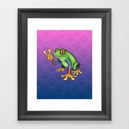 Peace Frog Framed Art Print