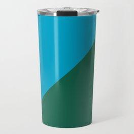 Light Blue & Army Green - 2 color oblique Travel Mug