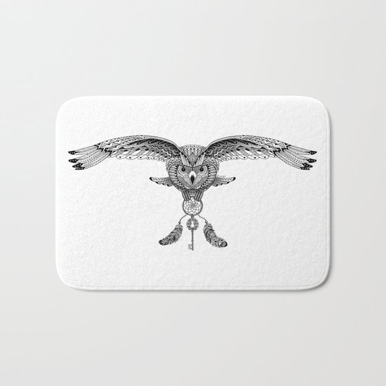 The owl is dreaming Bath Mat