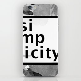 Simplicity Typography iPhone Skin