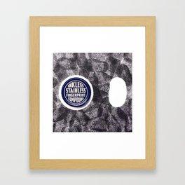 you'll never catch me. Framed Art Print