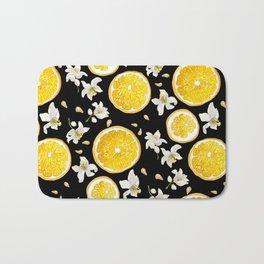 Orange Fruit Bloom Bath Mat