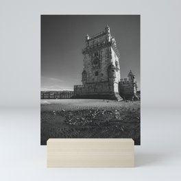 The Belem Tower, in Lisbon, Portugal. Mini Art Print
