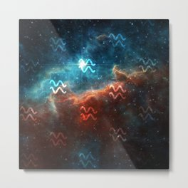 Aquarius Comos Metal Print