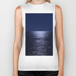 Moonlight on the Ocean Biker Tank