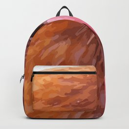 Side View Of A Farmyard Chicken Vector Style Backpack