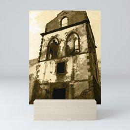House in ruins Mini Art Print