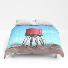 Old water tank Comforters