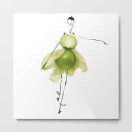 Edible Ensembles: Green Tomatillo Metal Print