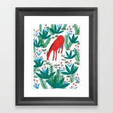 Red Horse Framed Art Print