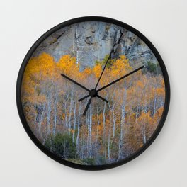 Aspens Fall Foliage 2 Wall Clock