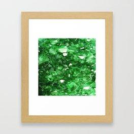 EMERALD GREEN CRYSTALS  MAY BIRTHSTONE Framed Art Print