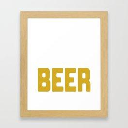 Today's Soup Beer Oktoberfest German Beer Drink Framed Art Print