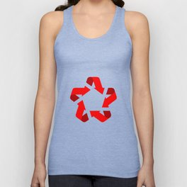 Recycle red star Symbol of new communism Unisex Tank Top