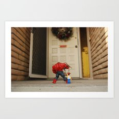 Red Hulk Come Home Art Print