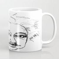 chibi Mugs featuring Chibi Einstein by Hazel Bellhop