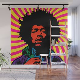 Psychedelic Jimi Wall Mural