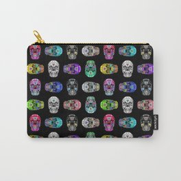 I love your Robotic Skull Heart on Black Carry-All Pouch