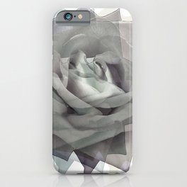 Gray rose iPhone Case