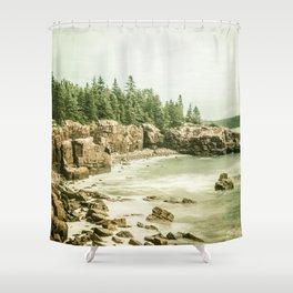 Acadia National Park Maine Rocky Beach Shower Curtain