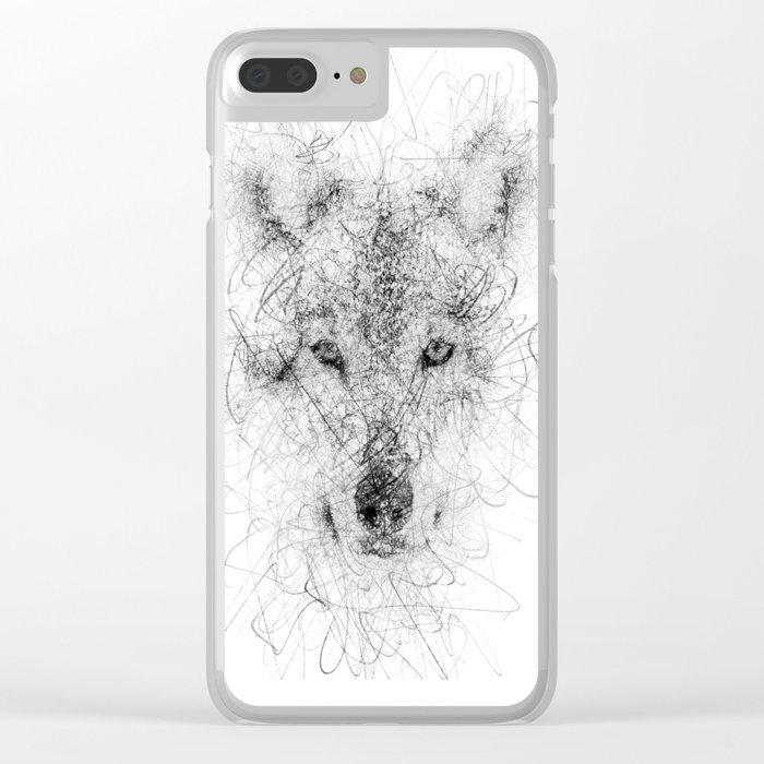 WolF Line Clear iPhone Case