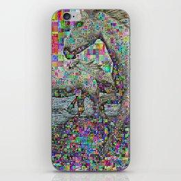 wild glitch horses iPhone Skin