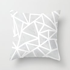Ab Marble Zoom Throw Pillow