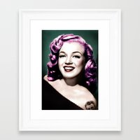 rockabilly Framed Art Prints featuring Rockabilly Marilyn by Tamsin Lucie