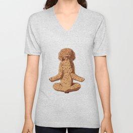 Barbet Dog meditate Unisex V-Neck
