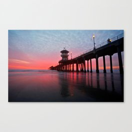 Christmas Sunset 2012 ~ Huntington Beach Pier, CA Canvas Print
